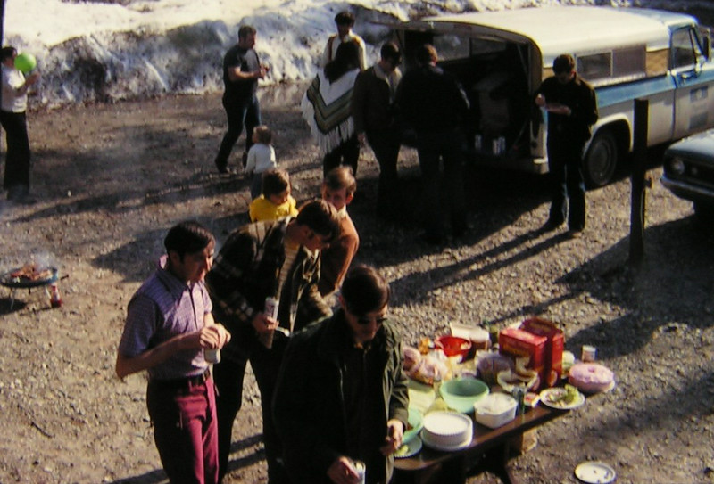 May Day BBQ, North Pole, AK, may 1, 1971  jeff baker, mike kelly, joey danko, jimmy drake, steve gleinser, chet aiken, don pomerino, denis hoover, bob leaply, wilber pettit PICT0003
