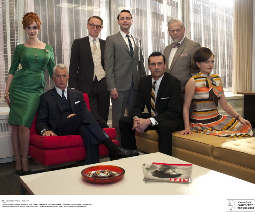 Mad Men photos for Chapter 1 Opener  Choice 1 of 10   Mad Men (AMC)  TV series  Season 5 2007 - Shown from left: Christina Hendricks, John Slattery, Jared Harris, Vincent Kartheiser, Jon Hamm, Robert Morse, Elisabeth Moss