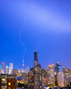 Shot this one July 27 in Toronto. Lightning strikes the CN Tower.