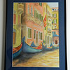 47 Gondolas, Venice - watercolor, 19 5x14. $450