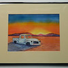 33 Salt Flat Pickup, Nevada - watercolor, 10x14. NFS