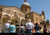 Crowd of senior Italian tourists visiting a easily recognizable monument in Italy. They are clearly on a tour.<br /> <br /> Choice 4 of 18<br /> <br /> AA975G Tourists at Palermo Cathedral Palermo Sicily Italy