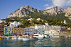 Fig 13.13 / Photo of island of Capri with beautiful view of the Mediterranean  Choice 5 of 13   27 Aug 2008, Capri, Italy --- View of harbour, buildings and mountains, Marina Grande, Capri, Italy --- Image by © Melvyn Longhurst/Corbis
