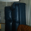 Blue Leather Sofa #1