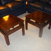 2 Mahogany end tables