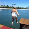 Video of Kym, Cady, Bradley and Ashley jumping off pier