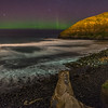 Aurora australis. Second Beach, St Clair, Dunedin. 27 August 2014, h21:09