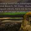 Time lapse: Aurora australis over Second Beach, St Clair, Dunedin. 27 August 2014