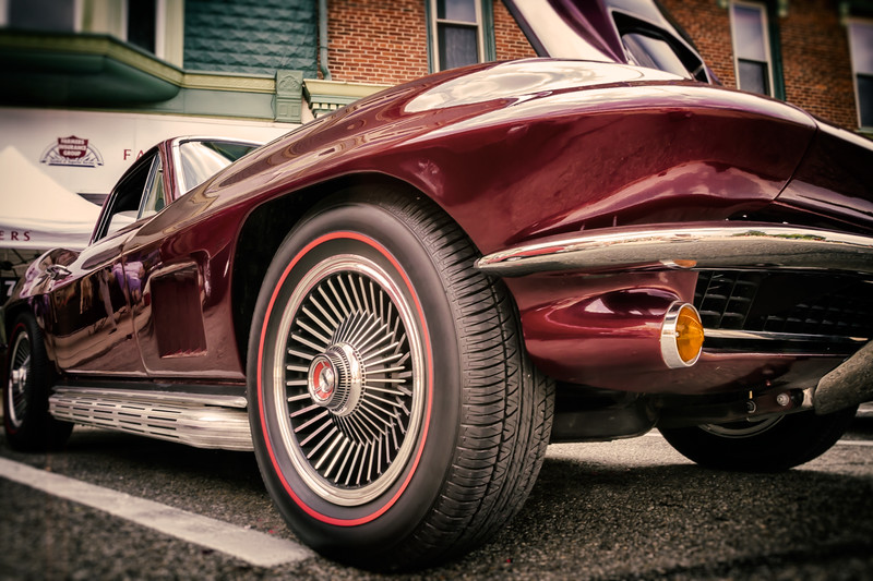 1967 Corvette Stingray photographed during the Dan Emmett Music & Arts Festival in downtown Mount Vernon, Ohio on August 11, 2013.