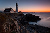 Portlandhead Lighthouse Sunrise - Coastal Maine - Andrew Ehrlich - October 2013