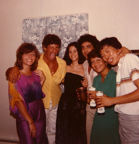 Anny's farewell party, August 1979. With Emilio (from Paraguay?), Suzi Afrasiabi (Iran), Joe Chen.
