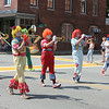 The Hills Mills Clown Band entertained passersby with music.