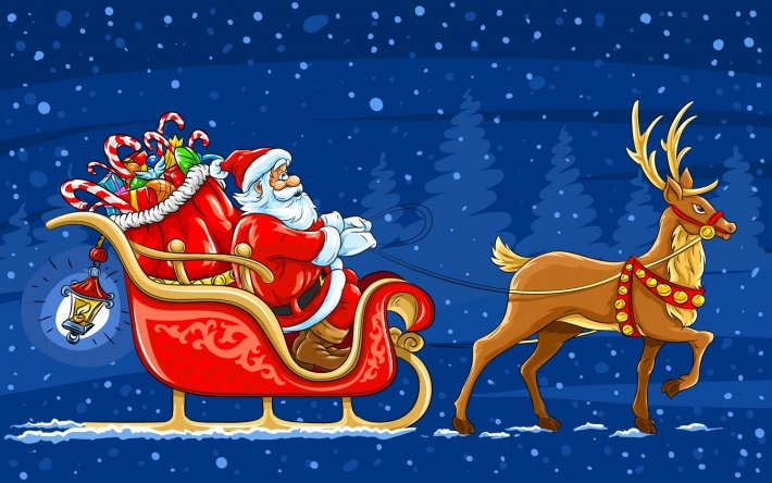 bigpreview_Santa Claus in a Sleigh