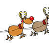free-vector-cartoon-santa-claus-and-elk-vector_094533_Santa Reindeer (4)