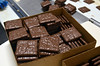 Chocolate covered crackers  packaged in a  production area at Asher's Chocolates.   (The Reporter/Geoff Patton)