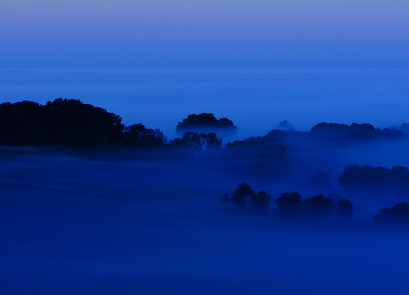 Fog over North Hampshire