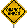 Change ahead isolated sign