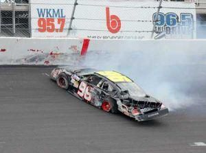 Brian Keselowski's car is shown after a rough day of racing in this 2009 photo (Courtesy of the Keselowski family)