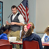"""Davis Turner teaches the 7th grade literature class studying the book """"The Devil's Arithmetic"""" at the Broomfield Academy on Thursday.<br /> January 10, 2013<br /> staff photo/ David R. Jennings"""