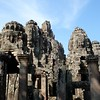 Enigmatic stone faces in Angkor Wat
