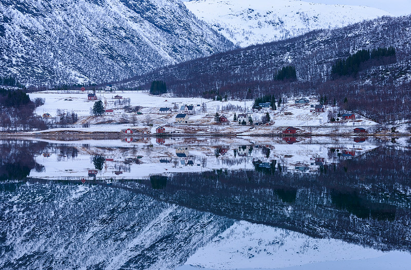 Winter Morning on a Lake in Norway