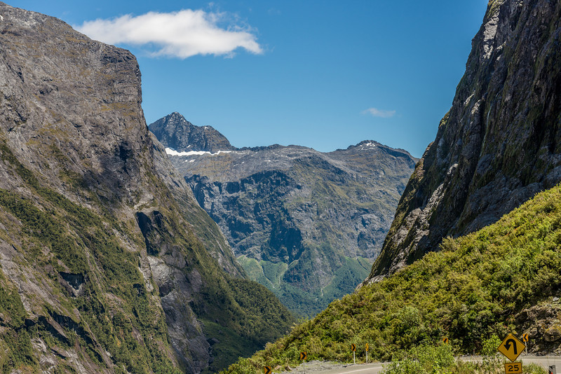 The Charismatic Wall from the Milford Road just west of the tunnel