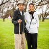 Adorable couple. Man just turned 100.