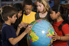 TA17.1 / Chapter Opener 17 / Culture and Diversity   Choice 8 of 14   Third Grade Students Looking at Globe --- Image by © Will & Deni McIntyre/Corbis