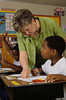 TA7.14 / New photo requested / what are some good teaching strategies for guiding children's long-term memory / teacher with students  Choice 9 of 14  North Carolina, USA --- Teacher Assisting Student During Exam --- Image by © Will & Deni McIntyre/CORBIS