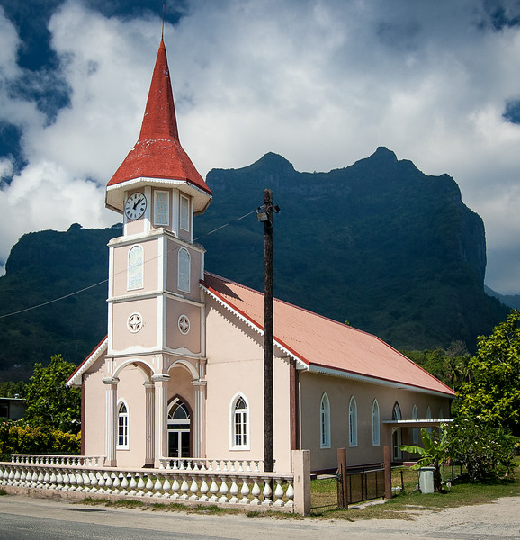 Small church in Tahiti.