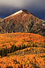 Sunset on Ruby Peak - Ruby Peak near Crested Butte, Colorado - Sandy Reed - September 2012