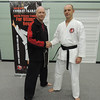 Nigel with Shihan Martin Day Combat Karate Noosa