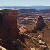 One of my favorite shots from Canyonlands, my wife wandered out to the furthest point south anyone can go in the Islands in the Sky section:  White Crack.  She totally raised her arms in joy and amazement.  I happened to be taking a photo at the same time:  nothing was posed at all.  That's how awesome the view is here!<br /> <br /> Please view in its' largest size to fully enjoy.