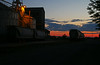 A nice sunrise at the Port of Anchorage compensates for an overnight shift.