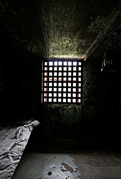 Standing in this cell I could imagine the grim loneliness faced by the theives and murderers that were locked away awaiting trial or a hanging.  This was taken at the prison museum in Bellville, TX.