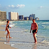 l-r: Sarah Stone, Bill Dunlop, Gretchen Hilburger on Sand Key Beach in Clearwater, FL