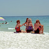 l-r: Judy Hilburger, Jen Hilburger, Kathy Stone, Donna Largent on Sand Key Beach in Clearwater, FL