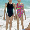 l-r: Gretchen Hilburger, Sarah Stone on Sand Key Beach in Clearwater, FL