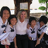 Linda Pettry, SocStudies Dept Chair, Walter A. Teague Middle School, Altamonte Springs, Florida with students in southern Thailand