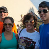 The Gould's ready to run, sporting their Elvis glasses and sideburns