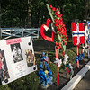 The tributes line the road leading to the Meditation Garden, where Elvis is buried