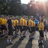 US Navy runners arrive in formation
