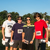 Sideburns? Check. Elvis glasses? Check. Race bib? Check. They're ready to run.