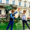 """The famous Pegasus fountain in Mirabell Gardens - where they filmed the """"Do Re Mi"""" scene! - Sound of Music Tour - Salzburg - Sat, Sept 6"""
