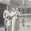 3 22 2014 Dad, Grandma, Tommy and Wayne, Normal Ave back yard, maybe summer 1950
