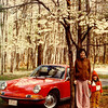 3 10 2014 Jan and Jenny and our 1969 Porsche 911T, Pound Hollow St Pk, Illinois,spring 1973
