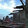 The demolation of one of the 100+ year old barns at Ft Steilacoom Park