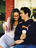 m354 TA9.6 / Choice 6 of 11 / Young Couple Eating Ice Cream Cones --- Image by © Eric Cahan/Corbis