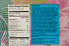 m327 s8-1 choice 4 of 8 Close-up of nutrition facts and ingredient information serving as an allergy warning label printed on package of Trader Joe's Granola Bars
