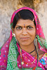 M285, TA11.22 / Close-up photo of East Indian woman in traditional attire with a bindi and/or other facial decorations.<br /> Choice 1 of 8<br /> <br /> Rajsamand District, Rajasthan, India --- Portrait of a woman, Kumbhalgarh, Udaipur, Rajasthan, India --- Image by © Photosindia/Corbis